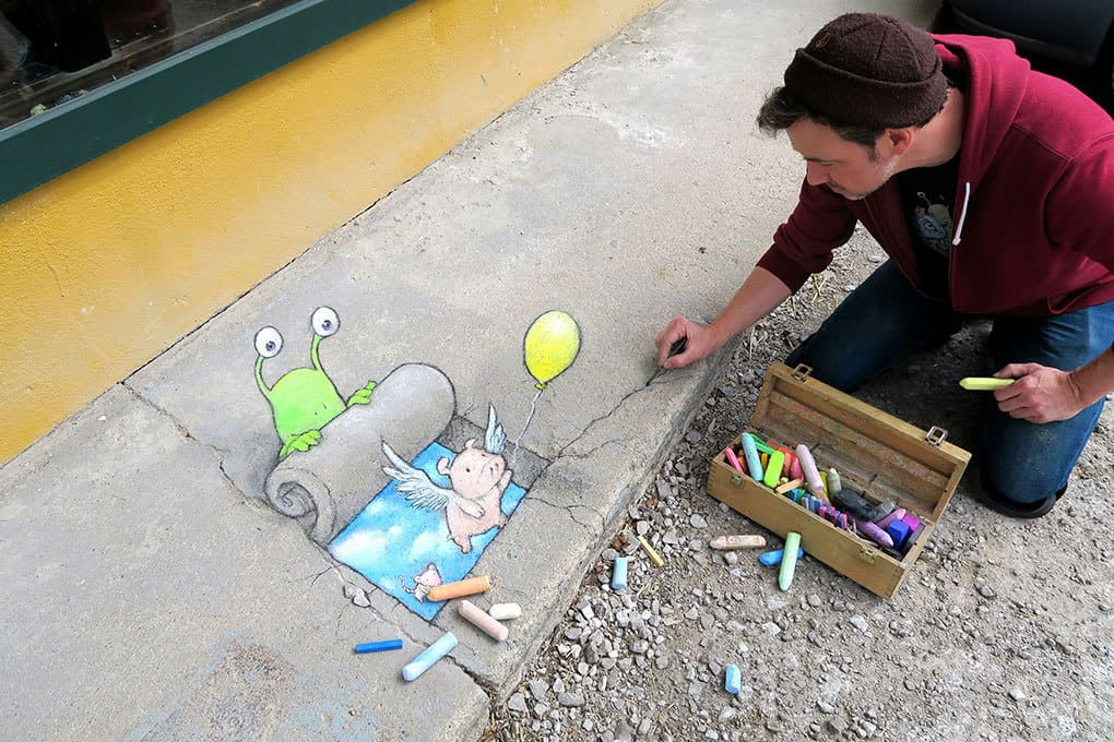 Street Artist David Zinn To Recreate Mice On Main