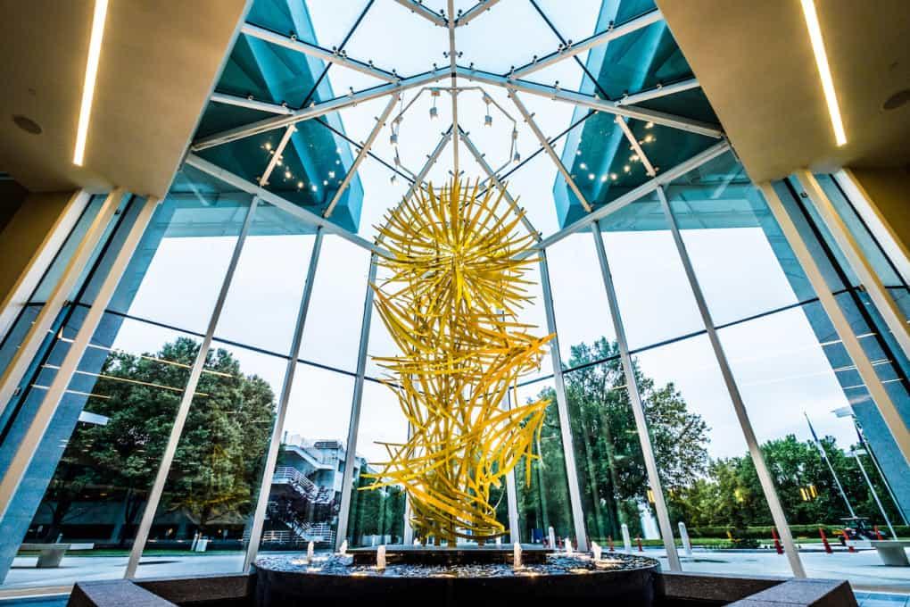 GSP International Airport's 'Waterfall of Light' sculpture