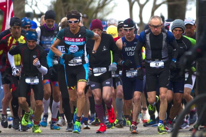 Duathlon runners
