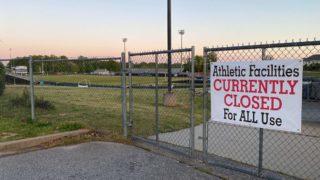 Athletic field at Eastside High School