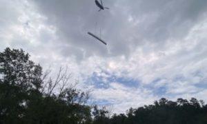 Photos: CH-47F Chinook delivers 18K pound bridge to Lake Conestee Nature Preserve