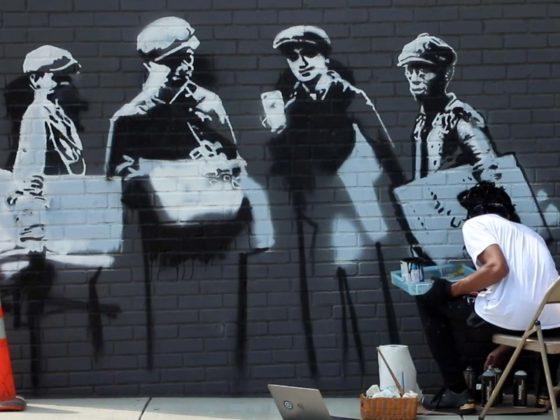 Ninja Picasso mural Greenville