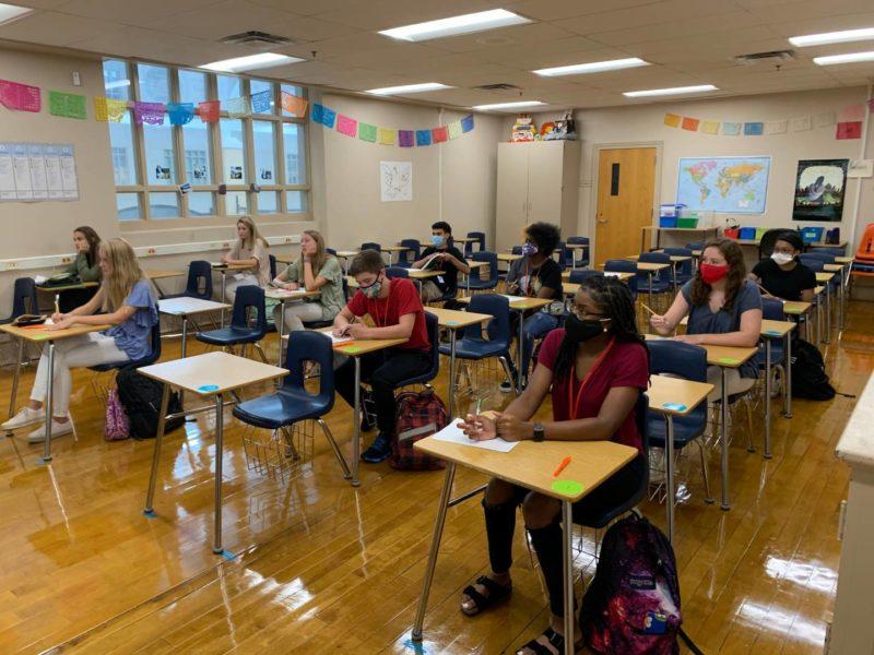 Greenville high school students on Attendance Plan 1