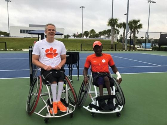 Wheelchair tennis athletes Jeff Townsend and Marsden Miller