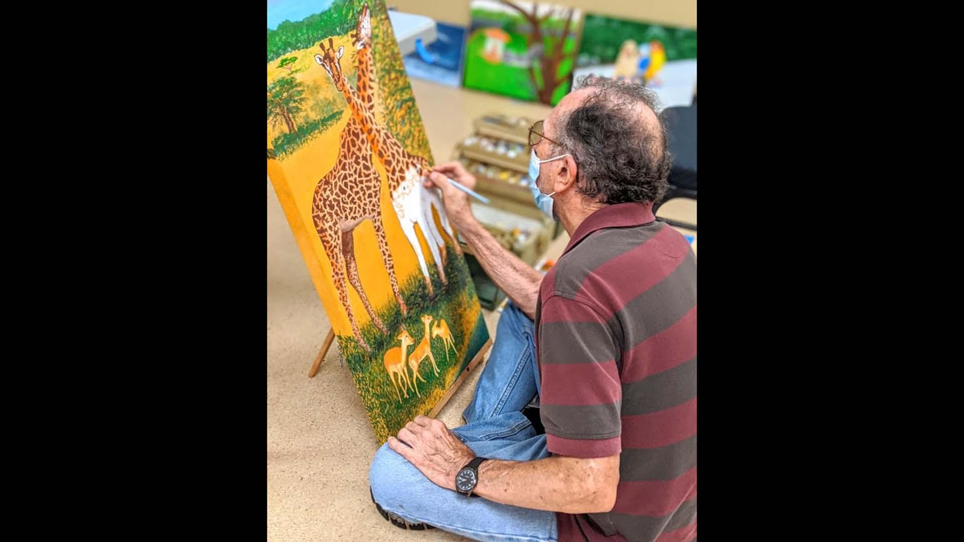 A painter at senior action