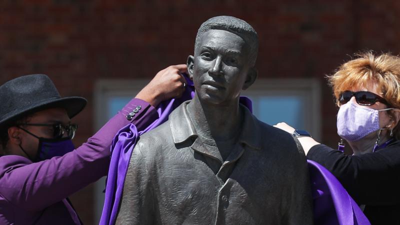 Statue of Joseph Vaughn at Furman University