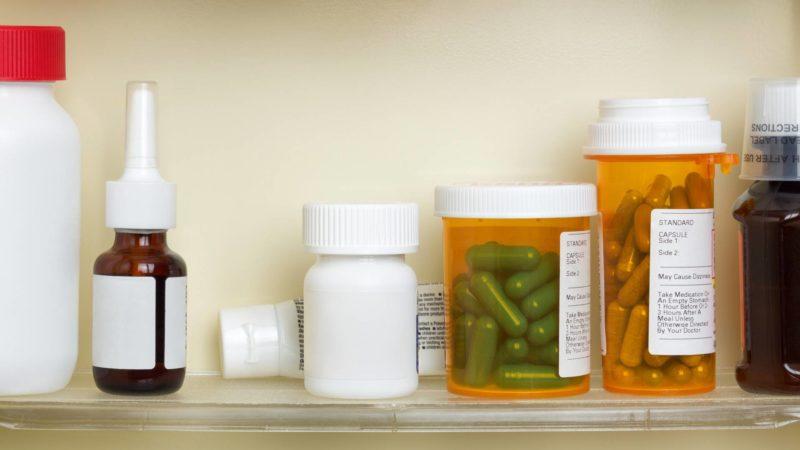 prescription drugs in cabinet