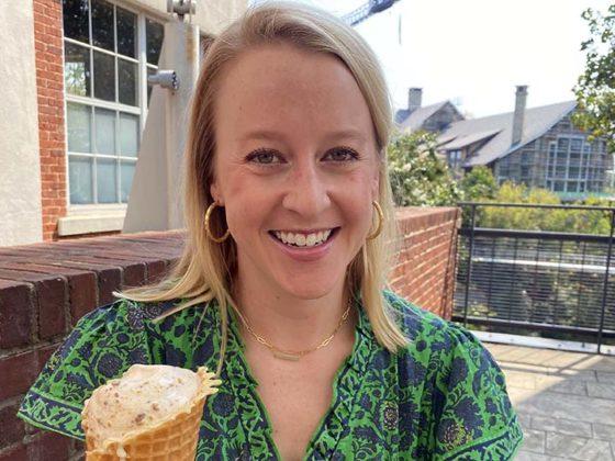 Virginia Cebe with ice cream code